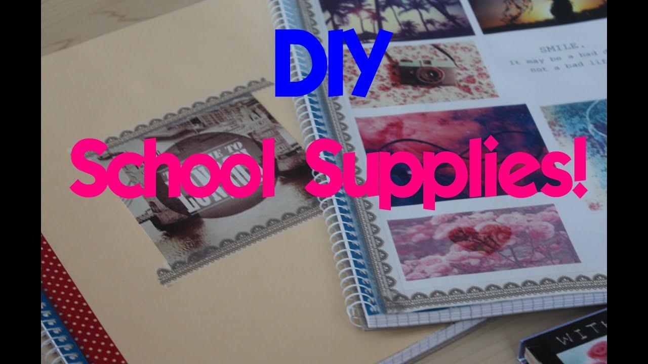 DIY TUMBLR SCHOOL SUPPLIES! #backtoschool - YouTube