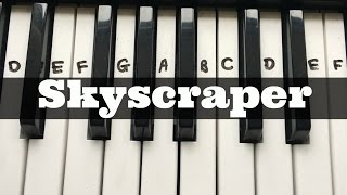 Skyscraper - Demi Lovato | Easy Keyboard Tutorial With Notes (Right Hand)