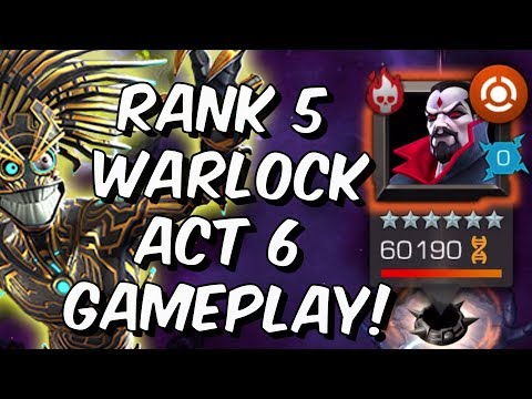 Rank 5 Warlock Act 6 Gameplay! - 6.2 Mister Sinister, 6.1 Crossbones - Marvel Contest of Champions