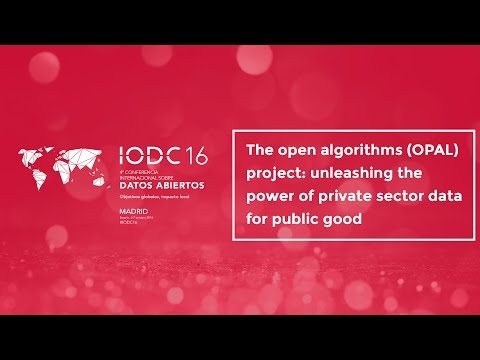 Room F - The open algorithms (OPAL) project - Oct. 7