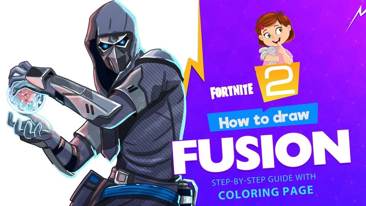 How To Draw Fusion Fortnite Chapter 2 Step By Step Drawing