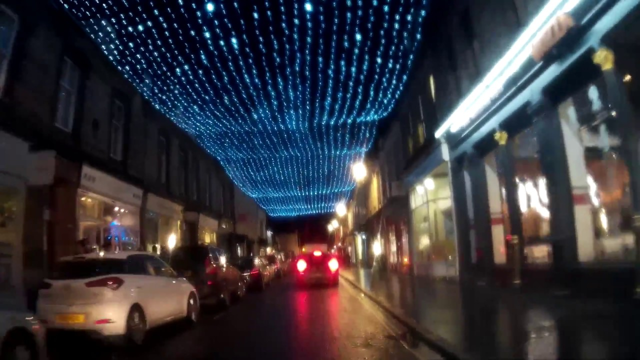 Christmas Lights Drive Around St Andrews Fife Scotland