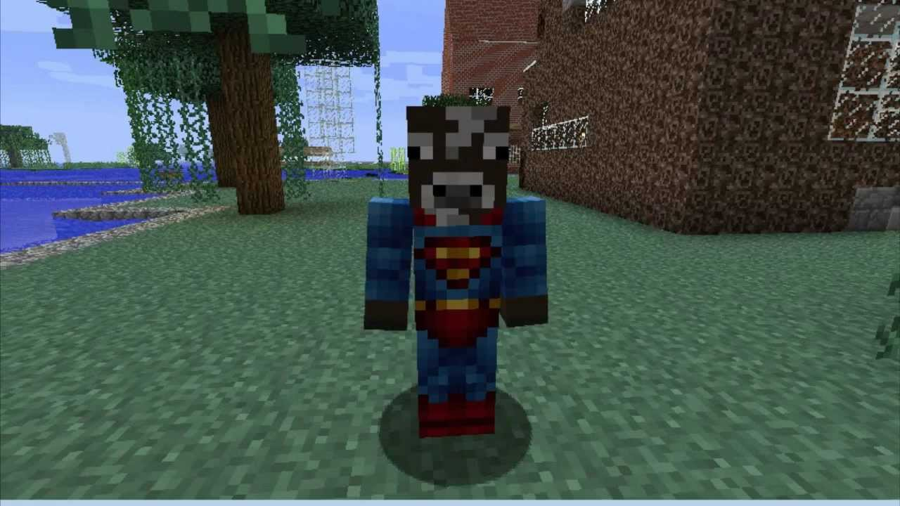 Minecraft Skins Superman Cow YouTube - Skin para minecraft pe cow