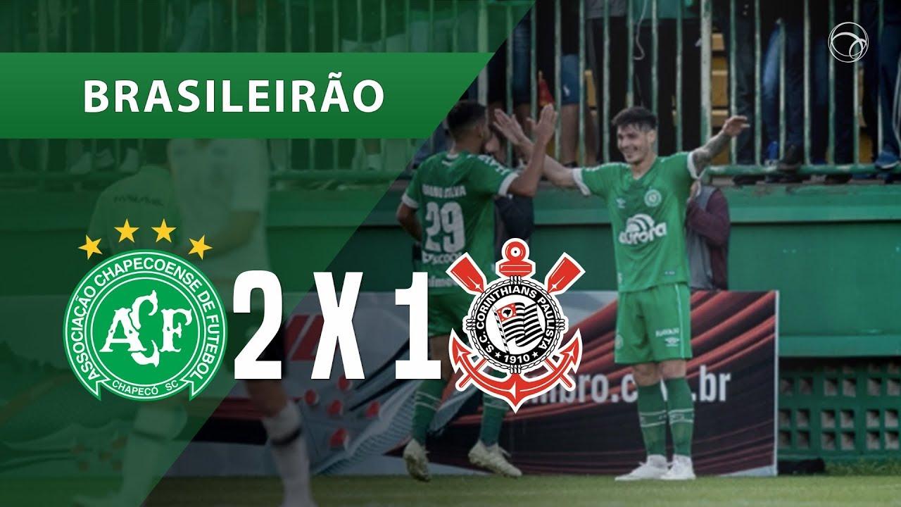 24e1cc37cc CHAPECOENSE 2 X 1 CORINTHIANS - GOLS - 12 08 - BRASILEIRÃO 2018 ...
