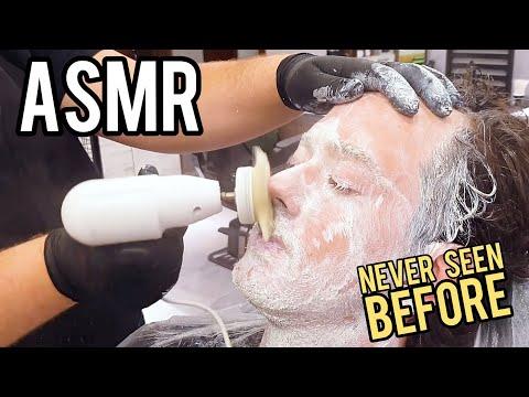 ASMR RELAXING FACIAL & SKIN TREATMENT VERY PARTICULAR !!! |1/2| ASMR BARBER