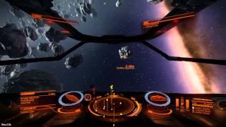 Fighting in an Asteroid belt (Elite: Dangerous)