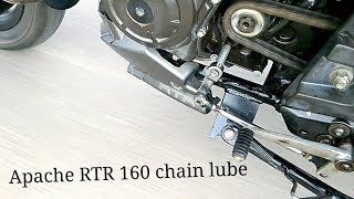 TVS apache RTR 160 servicing motul chain lube