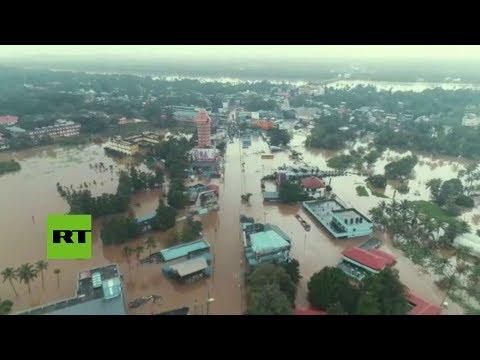 India: Las peores inundaciones en un siglo dejan más de 320 muertos en Kerala