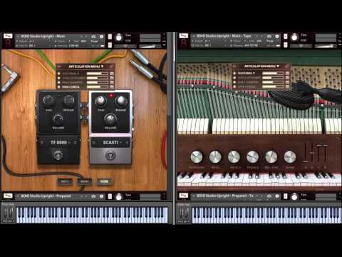 8Dio 1901 Upright Studio Piano Standard Articulations
