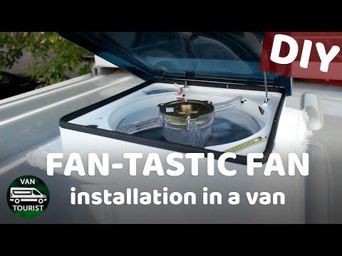 Installing 2 fan-tastic fans in the roof of van conversion ... on