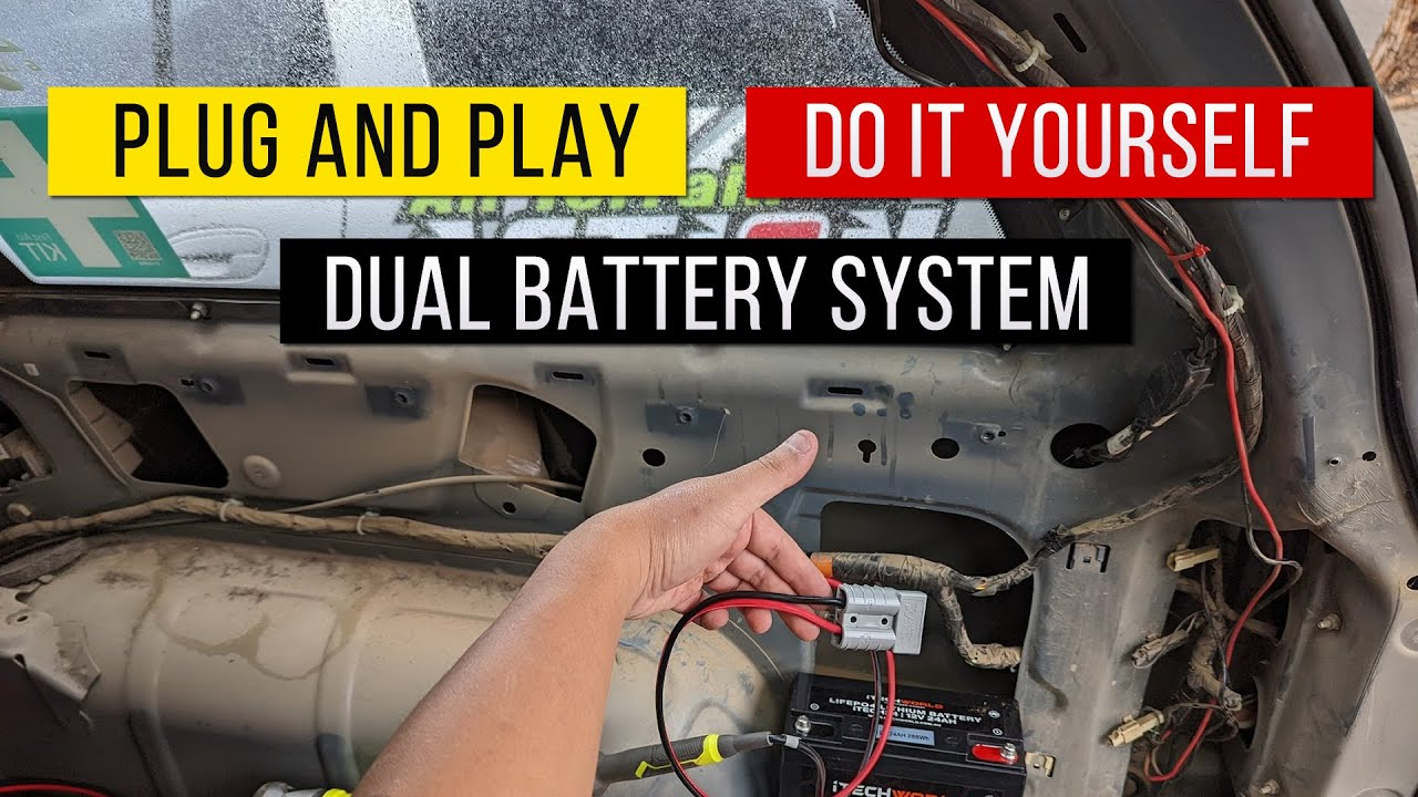 DIY Self Plug and Play Dual Battery System using Projecta IDC25 DC to DC Controller with Solar Input