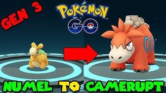 Evolving NUMEL to CAMERUPT (Pokemon GO GEN 3)