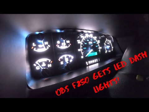 OBS F250 Gets LED Dash Lights!