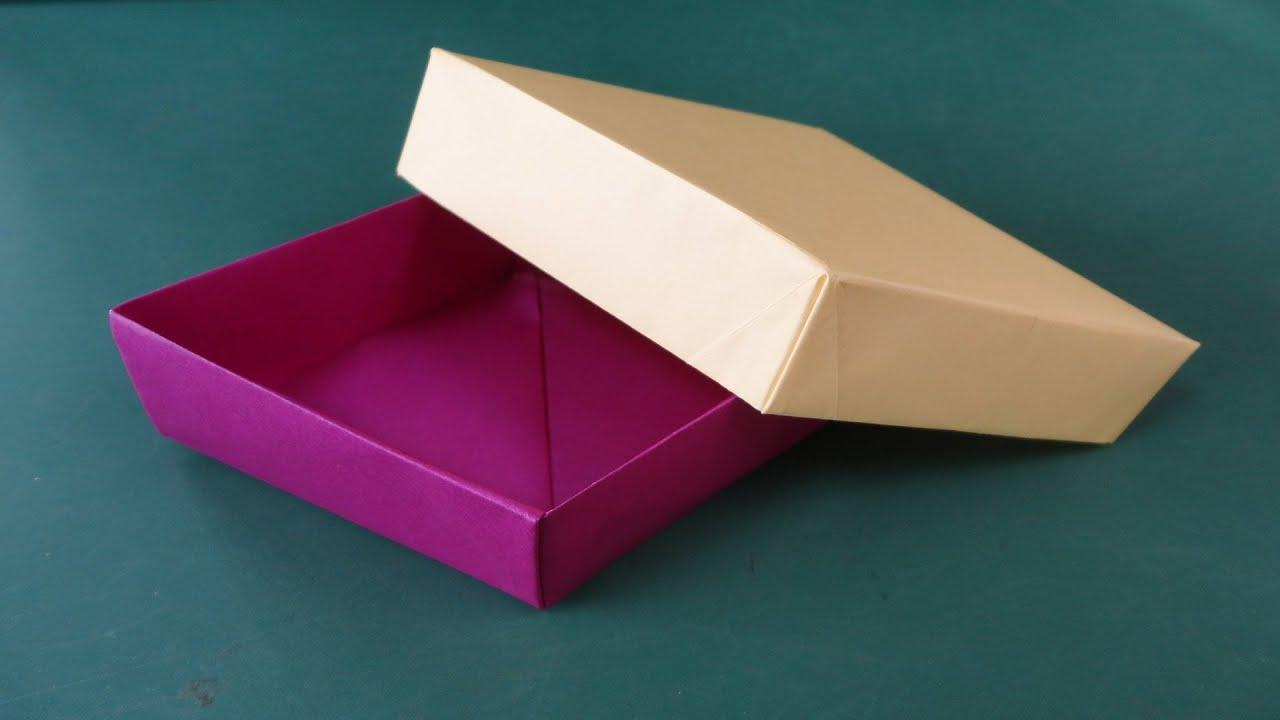 折り紙「ひし形の箱」折り方 ... : 箱 折り紙 長方形 : 折り紙