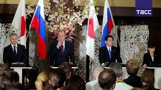 Пресс конференция по итогам переговоров глав МИД и Минобороны России и Японии