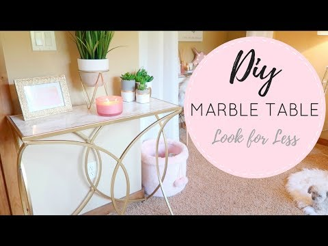 🖌-diy-marble-&-gold-table-🖌