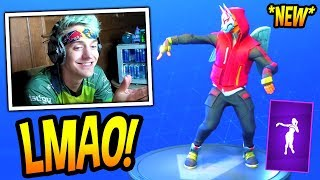 NINJA REACTS TO *NEW* HULA EMOTE/DANCE! *EPIC* Fortnite FUNNY MOMENTS