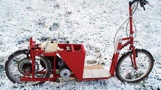 Trotinette moteur 50cc faite maison
