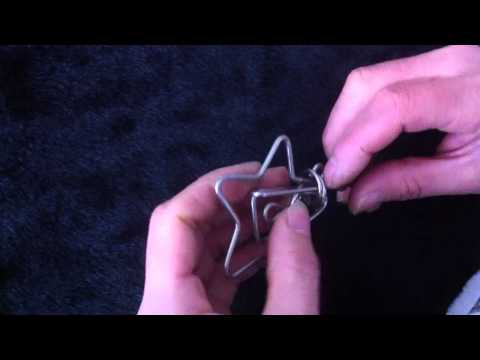 HA210130 Classic Star And Bar Twisty Wire Metal Disentanglement Brain Teaser Puzzles