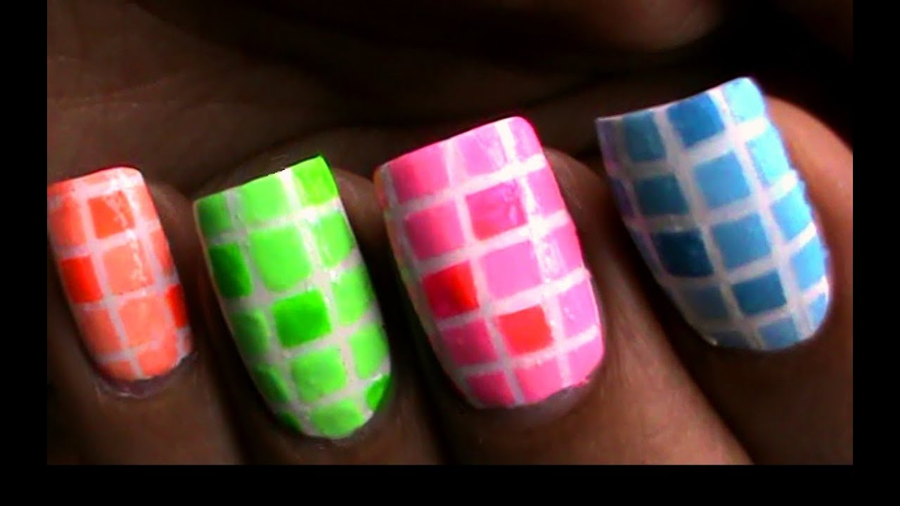 How to do nail polish designs with striping tape a tutorial youtube Cool nail design ideas at home