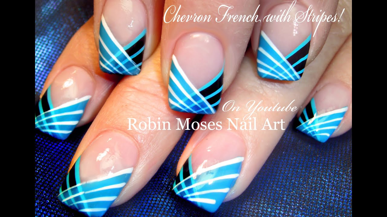 DIY Easy Striped Nails Design | How to Paint with a Striping Brush ...