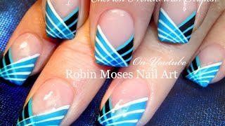 DIY Easy Striped Nails Design | How to Paint with a Striping Brush Nail Art Tutorial
