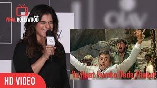 Kajol Funny Moment   Ye Haat Humko Dede Thakur   Gabbar   Sholay