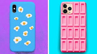 Cute And Fantastic DIY Phone Case Ideas With Clay, Resin And Glue To Bring Some Colors In Your Life
