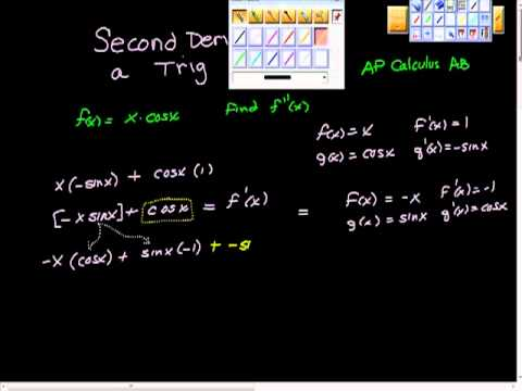 Second Derivative of a Trig Function AP Calculus - YouTube