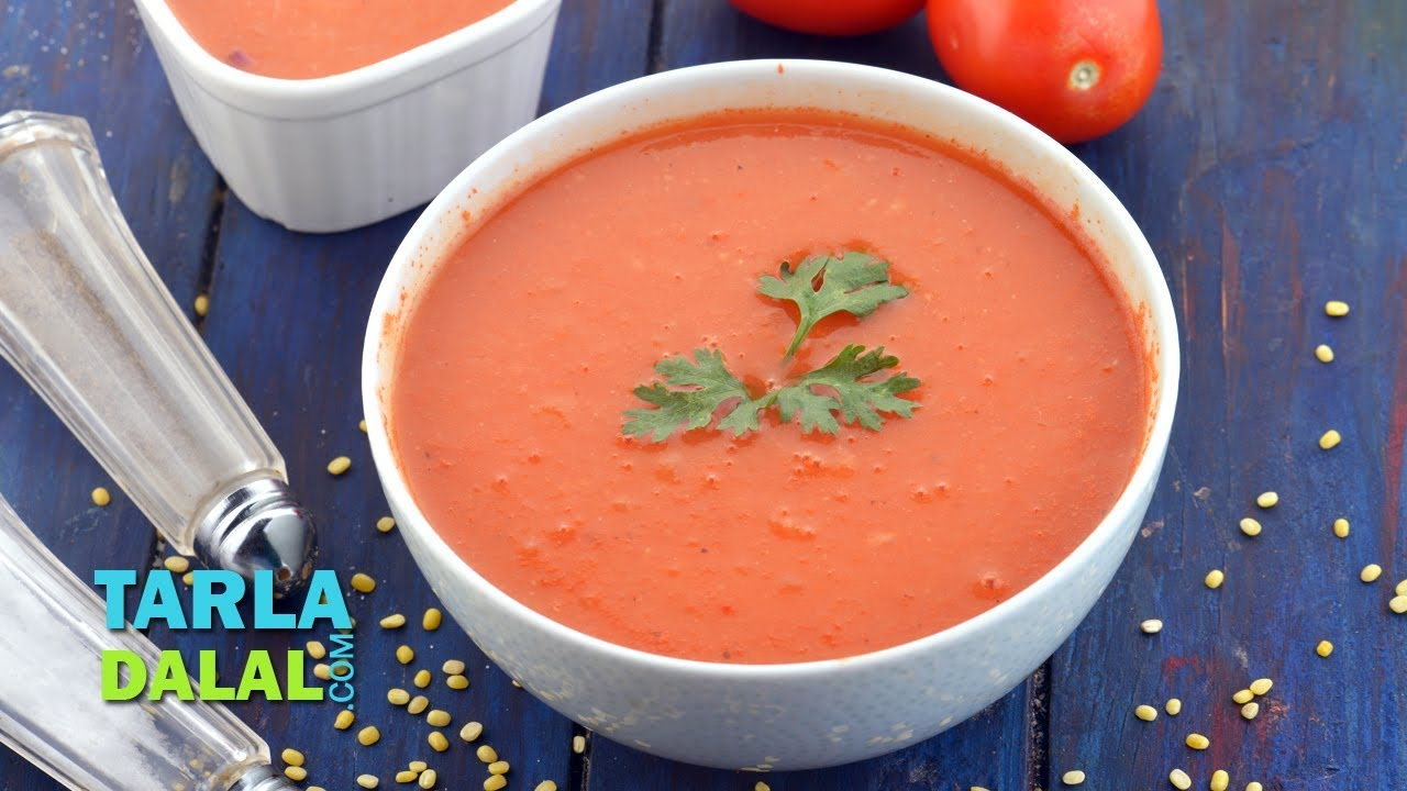 Healthy tomato soup low calorie by tarla dalal youtube forumfinder Choice Image