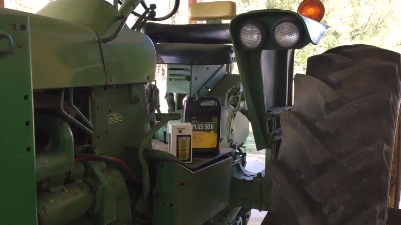 4020 John Deere >> John Deere 4020 oil change - YouTube