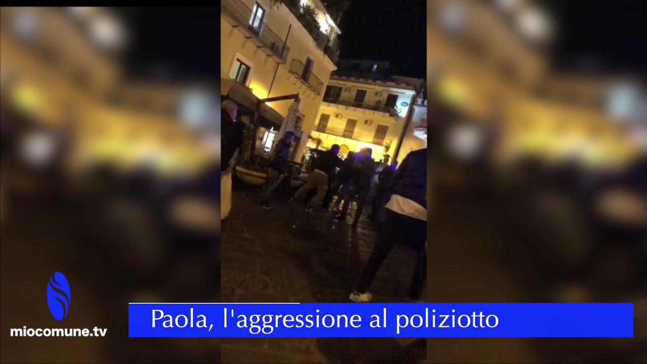 Paola, calci e pugni (video) contro gli agenti di polizia: arrestato un 35enne