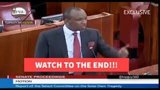 Mutula Kilonzo Jnr gives out what hppenned in solai dam fearlessly