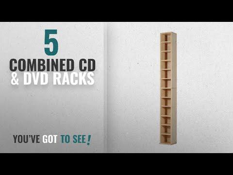 Top 10 Combined Cd & Dvd Racks [2018]: HOMCOM 12-tier Media Storage Cabinet 204 CDs Shelf Tower