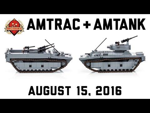 Amtrac LVT-4 and Amtank LVT(A)-4 - Custom Military Lego