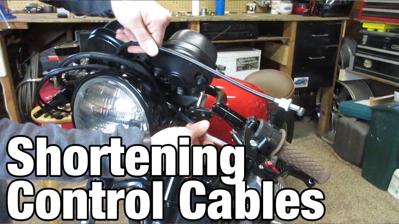 Shortening Motorcycle Control Cables Honda Cx500 Youtube Mz Skorpion Wiring Diagram