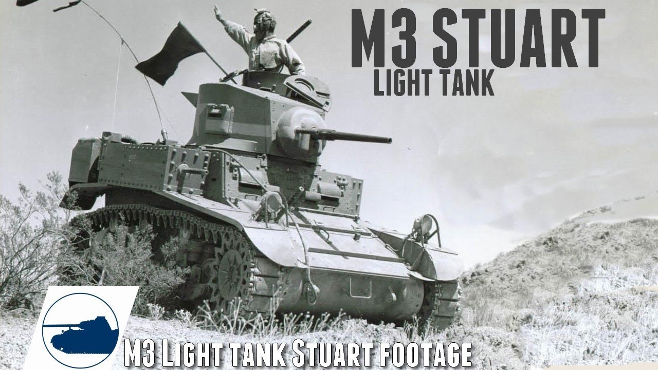 Download WW2 M3 Stuart Light Tank footage Part 1.