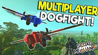 MULTIPLAYER CARDBOARD PLANE DOGFIGHT! - Scrap Mechanic Multiplayer Gameplay - Plane Challenge
