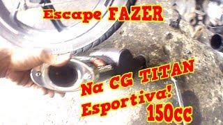 Adaptação Escape Disarsz (Fazer) na Titan 150CC (Ronco Grave)