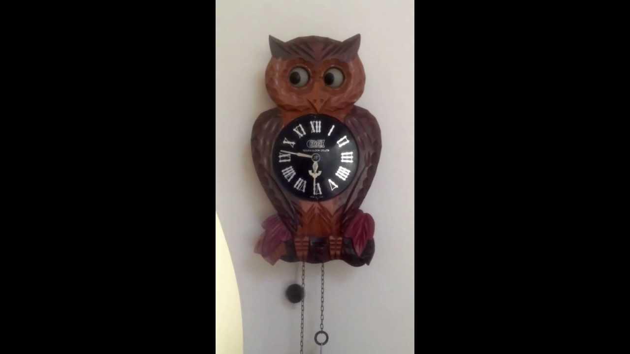 Tezuka co owl rolling eyes clock youtube amipublicfo Gallery
