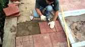 Укладка тротуарной плитки на дачном участке - YouTube