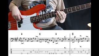 Bruce Springsteen - Glory Days (Bass cover with tabs)
