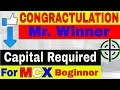 How much Capital is required to begin in MCX Commodity+winner Announced