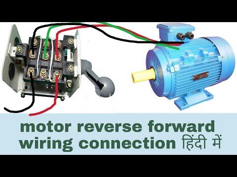 motor reverse forward wiring connection with changeover switch in