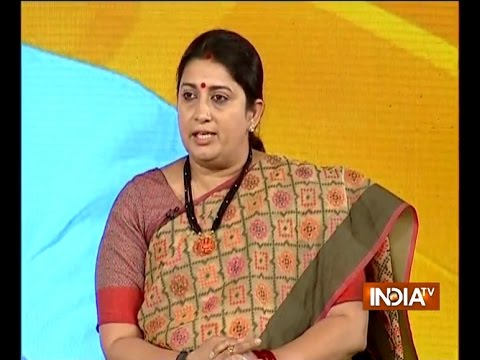 India TV संवाद: Smriti Irani strong reply to Kapil Sibbal's question on martyrdom of soldiers