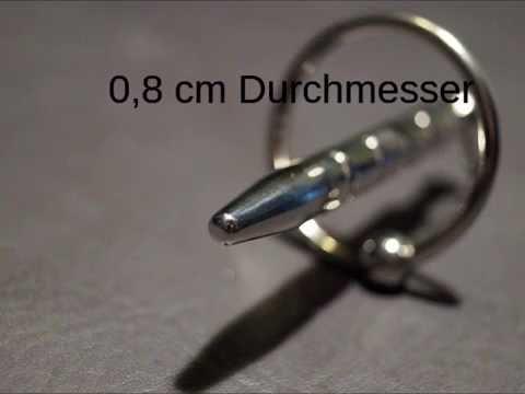 SchoepfersReiz.de - Harnröhrenstab R mit Eichelring - Urethral Sounding - Harnröhrenimplantat
