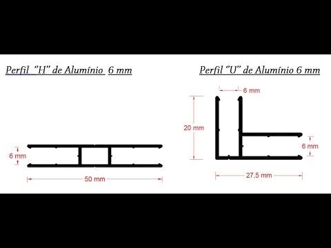 Diy perfil u de canto box e perfil h aluminio para - Perfil de aluminio en u ...