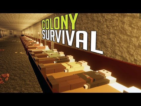 Colony Survival -  The Underground Base, Flax Farming & More! - Colony Survival Gameplay Part 3