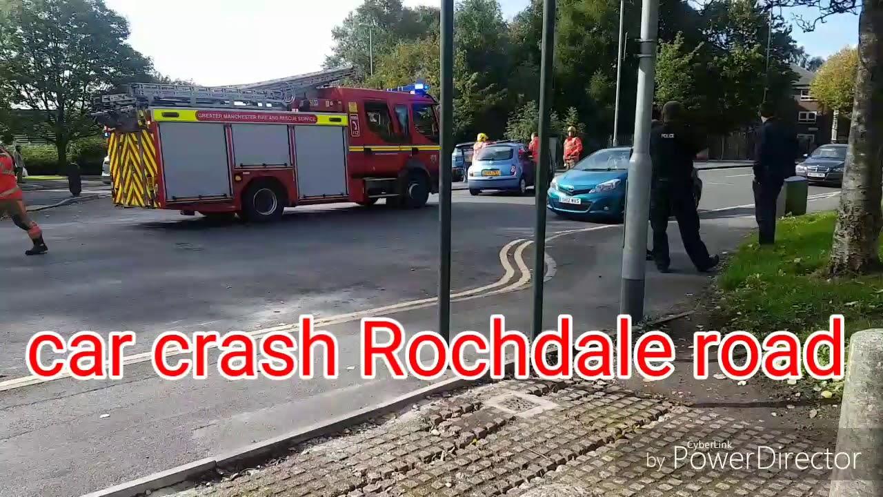 car crash on rochdale road oldham - youtube