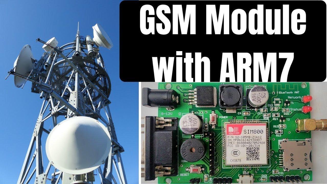 GSM Module Interfacing with ARM7 LPC2148 | SIM800 Module with ARM7